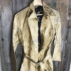 Eduardo Lucero VINTAGE Floral Gold Black Kimono